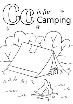 74 best camping coloring pages images on pinterest for Camping coloring pages for preschoolers