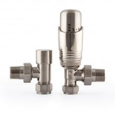 Finished entirely in satin nickel, this great value pair of thermostatic radiator valves is made to fit all of Castrads' cast iron radiators.