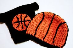 Basketball Hat and Diaper Cover combo for Newborn Baby to 12 Months, crochet photo prop on Etsy, $35.00