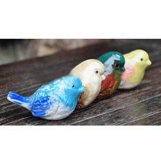 Pássaro bonito ajuste, Colorido animais de cerâmica cerâmica de porcelana de esmalte pássaro casa decoração cerâmica pássaro(China (Mainland))