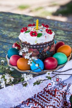 Happy Easter Pictures Inspiration, Resurrection Day, Ukrainian Easter Eggs, Easter Traditions, Russian Recipes, Easter Treats, Christmas And New Year, Birthday Candles, Cake Decorating