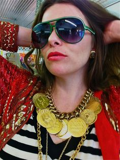 80's Runway Coco Chanel Coin Disc Necklace by VintageByMisty, $2100.00