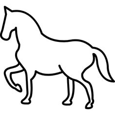 Les silouettes - Un cheval au pas Wood Craft Patterns, String Art Patterns, Cool Art Drawings, Easy Drawings, Crafts To Do, Hobbies And Crafts, Horse Stencil, Animal Templates, Chicken Painting