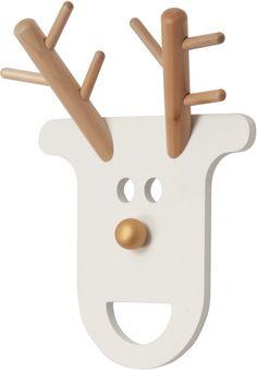 JIP Kapstok O Deer - Hout - Wit
