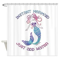 Instant Mermaid Shower Curtain on CafePress.com