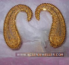 bengali traditional gold jewellery ear top design