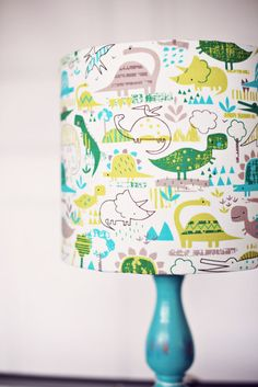 Dinosaur Lampshade Children's lampshade by ShadowbrightLamps