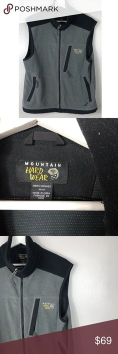 Mountain Hardwear Men's Gore Gray & Black Jacket Mountain Hardwear Men's Gore Windstopper Gray & Black Fleece Jacket Vest Medium  Style: Vest Size  Type: Regular Color: Gray Size (Men's): M Material: Polyester	 Pattern: Solid Season: Fall/Winter Mountain Hardwear Jackets & Coats