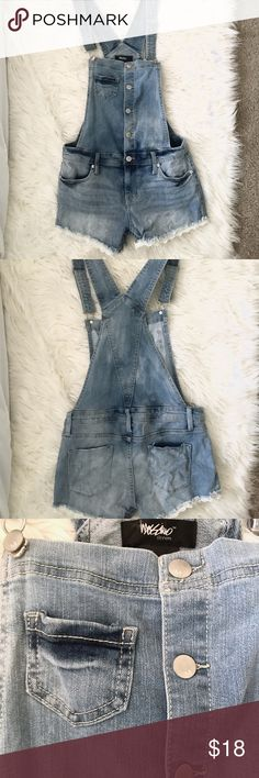 🌱Mossimo Lace Trim Denim Shortie Overalls🌱 These overalls are to-die-for cute with their lace trim and medium-wash color! They are Super Stretch denim so they move with your body very well. Although they are an XS, they would fit a S as well. They were only worn & washed once for painting - you'll find two of the tiniest white paint specs on them for character ☺️ Your perfect summertime adventure outfit awaits! Mossimo Supply Co. Other