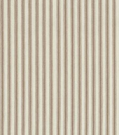 Upholstery Fabric-Waverly Classic Ticking/Chocolate