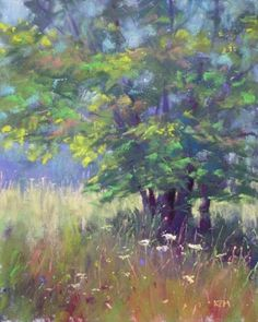 Painting a Tree -- Karen Margulis. Inspiration for painting but also prolific artist with reasonable prices. On etsy and her own blog.