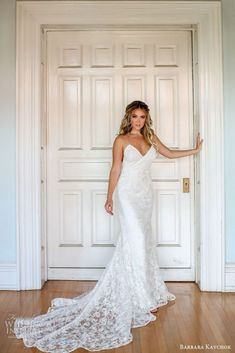barbara kavchok fall 2019 bridal sleeveless thin straps sweetheart neckline lace sheath wedding dress mv low back boho elegant romantic -- Barbara Kavchok Fall 2019 Wedding Dresses Cowgirl Wedding, Western Wedding Dresses, Elegant Wedding Gowns, White Wedding Dresses, Wedding Bride, Bridal Dresses, Wedding Notes, Wedding Dress Necklines, Lace Bride
