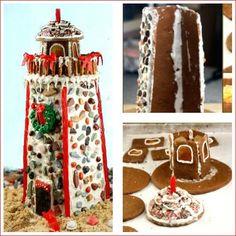 Coastal Gingerbread Lighthouse Recipes: http://www.completely-coastal.com/2015/12/coastal-gingerbread-lighthouse-recipes.html