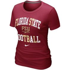 Nike Florida State Seminoles (FSU) Women's Football Gridiron T-Shirt - Garnet