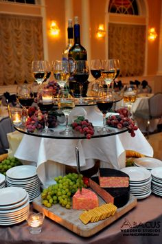 O..M..G..Wedding Food- cheese and wine bar. I want this at my wedding. Lol! Totally me. yum!!!!!