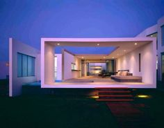 #white #contemporary House in Lima by Artadi Arquitecto