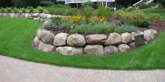 Land Design Assiciates,Inc is a professional landscape service firm that provides beautiful landscapes, land design and custom landscape design. Landscaping With Boulders, Side Yard Landscaping, Landscaping Retaining Walls, Stone Landscaping, Landscaping Ideas, Lawn And Landscape, Landscape Design, House Landscape, Landscape Walls