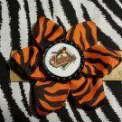 Sporty Bottlecap Flower MLB Baseball Baltimore Orioles Bird Animal Print Hair Bow ~ Free Shipping