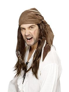 You can buy a Smiffy's Buccaneer Pirate Wig from the Halloween Spot. Complete your pirate costume with this straight brown wig with braids and bandana. Pirate Fancy Dress, Adult Fancy Dress, Mermaid Face Paint, Captain Costume, Halloween Costume Accessories, Steampunk Costume, Costume Wigs, Braids, Hair Styles