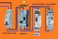 Esquemas eléctricos: Maniobra con contactor mas reloj horario