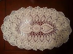 How to Crochet the Oval Pineapple Doily  by Jeego Crochet Team   Published in: Star Book No. 124, Doilies Cr...