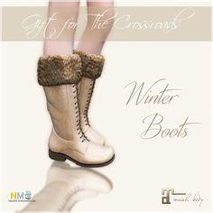 Belle Epoque Winter Boots Second Life Freebie