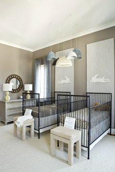 Finnian's Moon Interiors - nurseries - twin nursery, twin nursery design, fraternal twin nursery, fraternal twin nursery design, his and her...
