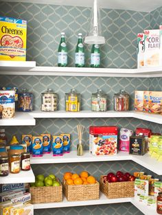 Update the tucked-away spaces you access every day that don't get as much design love. Use leftover wallpaper to line the interior of a pantry or coat closet!