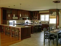 Love this kitchen plan, and open to the family room too.