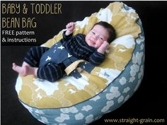 Free pattern and tutorial: Baby and toddler bean bag - StraightGrain. A blog about sewing