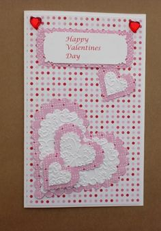 This is another adorable Valentine's Day card for a loved one that is quick and easy to make. Time to complete: 5 minutes.