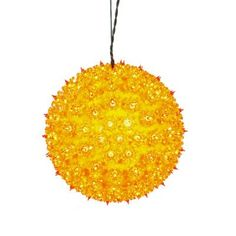Vickerman Lighted Hanging Star Sphere Christmas Decoration Color: Yellow