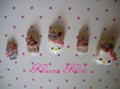 Hello Kitty Lolita Nails! <3
