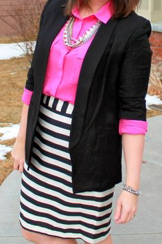 My New Favorite Outfit: Pink, Stripes, and Styling