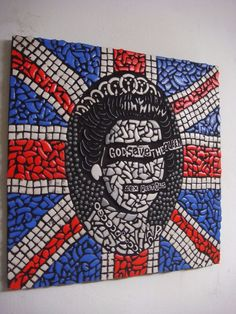 Sex Pistols God Save The Queen Mosaic Punk picture classic design Modern Art | eBay