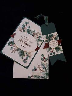 Stampin Up Christmas 2018, Christmas Cards 2017, Christmas Paper Crafts, Homemade Christmas Cards, Christmas Catalogs, Christmas Settings, Christmas Tag, Christmas Greeting Cards, Greeting Cards Handmade