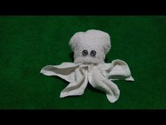 OCTOPUS THE SECOND MODEL - MY TOWEL CREATION - YouTube Napkin Origami, Towel Origami, Origami Fish, Napkin Folding, Reuse Old Clothes, Old Baby Clothes, Fall Clothes, Towel Animals, Sock Animals