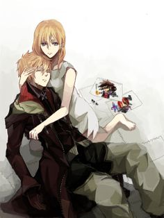 Roxas and Namine. personally thought i ship Roxas and Xion. i mean come on! they were perfect together!!!!!!!!!!!!!!!!!!!!!!! oh Xion, why did you have to go????????????????? i expect the KH makers to put her back in KH 3