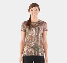 Women's HeatGear® EVO Camo Shortsleeve | 1237118 | Under Armour US