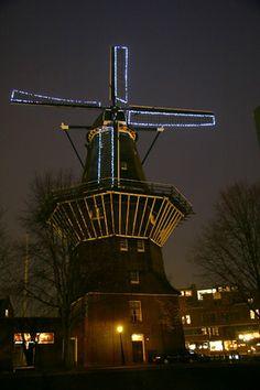Flour mill De Gooyer, Amsterdam, the Netherlands.