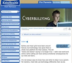 This pin can links to an informational website that can be very helpful to inform the public about the different aspects of cyberbullying. It is even available in different languages to reach more people.