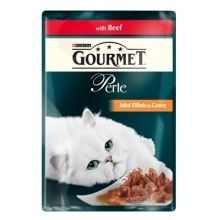 PET-707063 Gourmet Perle Pouch Beef Grilled (85g) 24 Pack