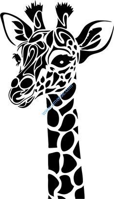 Animal Stencil, Stencil Art, Stencil Designs, Stencils, Stencil Patterns, Giraffe Drawing, Giraffe Art, Giraffe Head, Giraffe Painting
