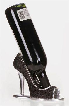Mark Roberts 'Black Glitter Shoe' Wine Bottle Holder (Nordstrom Exclusive) available at #Nordstrom