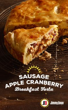 This breakfast torta recipe made with Premium Jimmy Dean Pork Sausage, ricotta cheese, eggs, apples and cranberries is delicious enough to put a pause on the hustle and bustle of holiday mornings for a sweet surprise.