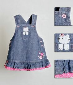 Kids Frocks, Frocks For Girls, Little Girl Dresses, Toddler Dress, Toddler Outfits, Kids Outfits, Kids Dress Wear, Sewing Baby Clothes, Baby Dress Design
