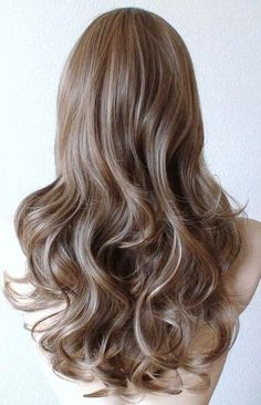 Color: Brown / dirty blonde / Ash blonde Hair style: Long curly hair with long side bangs Overall length: 26 Part: Circle center part Can be parted to Blond Ash, Brown Blonde Hair, Light Brown Hair, Blonde Wig, Medium Ash Brown Hair, Summer Brown Hair, Sandy Brown Hair, Dark Brown, Medium Blonde