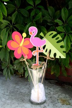 Tiki Luau Hawaiian Party Center Piece or Table by PaperPartyParade, $9.00