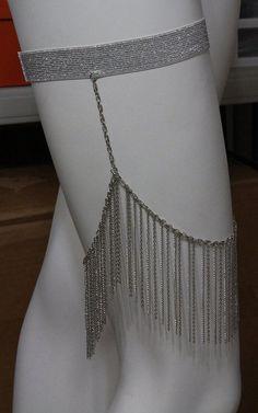 Hot Sexy Leg Chain Garter Belt Layered Silver Body Fringe Tassel Thigh Leg Women #Unbranded @modtoast