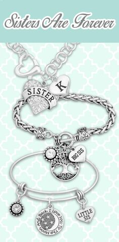 Customized Sister jewelry - $9.98! Sisters are forever, always by your side! See our entire Sister collection to find the perfect piece!